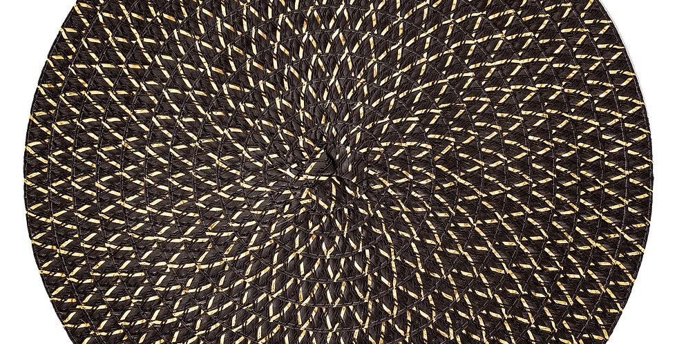 Secret de Gourmet placemats Irise zwart/goud