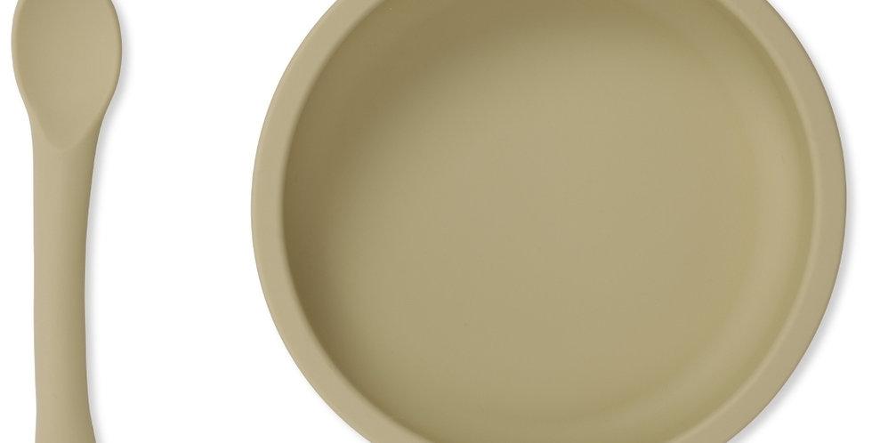 Konges slojd Bowl en lepel set siliconen Limonade