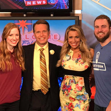Appearing on Fox8 morning show in Cleveland to promote Fabulous GAME SHOW LIVE!