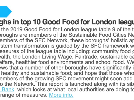 Lewisham in top 4 reports Sustainable Food Cities