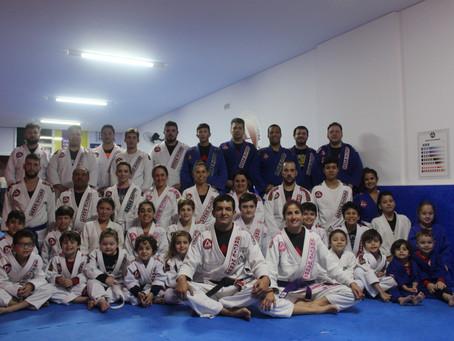 Comemoração de 6 meses da escola Gracie Barra Balneário Camboriú