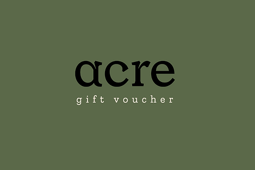 acre gift voucher - for pick up