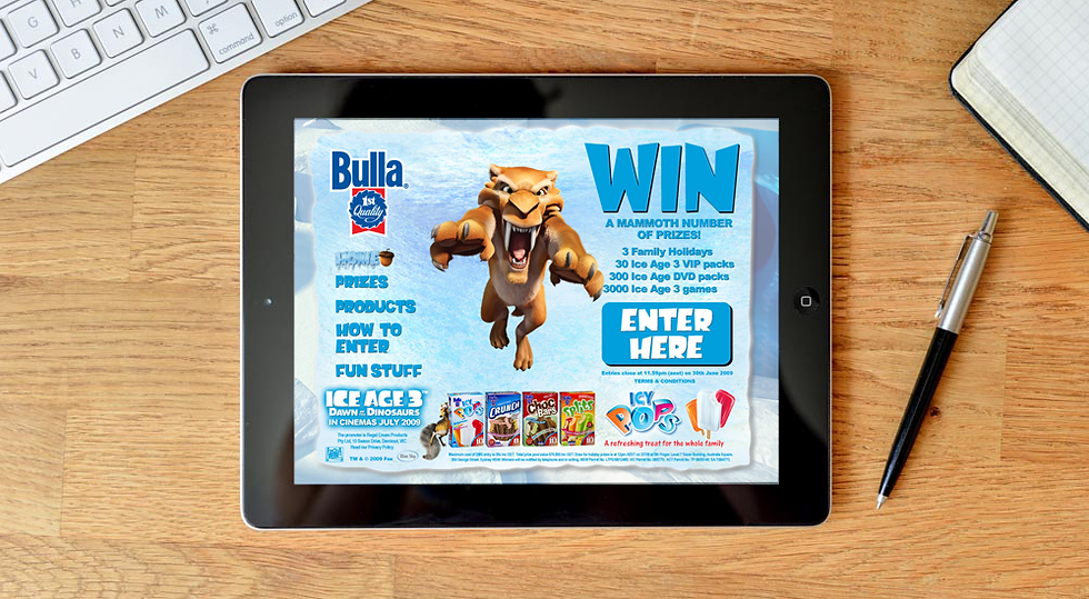 Bulla Ice Age 3 Mini Site