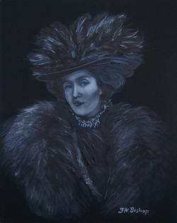 #378 feathered hat