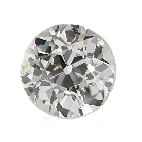 Old European cut Diamond .67ct GIA J VS2 5.37-5.53mm. Early round brilliant cut diamond.