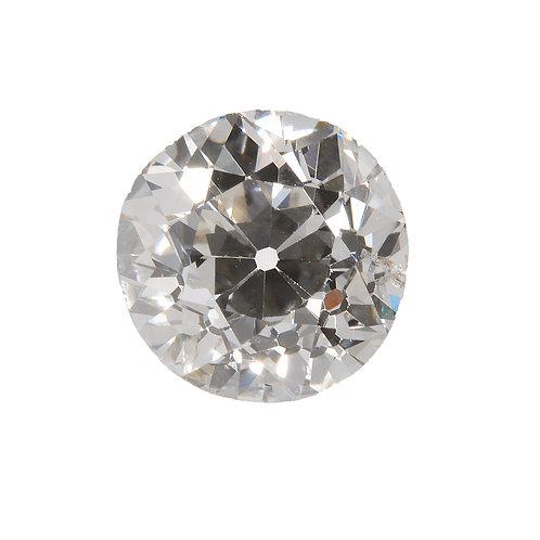 Old European cut Diamond .76ct GIA J Si1 5.62-5.73mm. AKA Early round brilliant cut diamond.