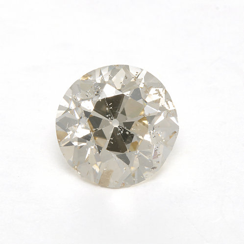 Old European cut Diamond 1.08ct GIA S-T  i1 6.32-6.50mm. Early round brilliant cut diamond.