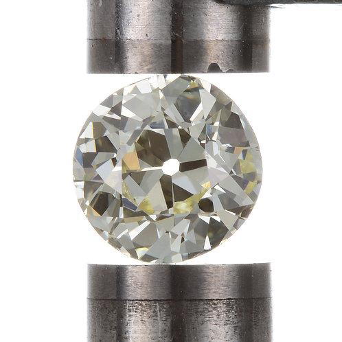 Old European cut Diamond 1.03ct GIA Q-R VS1 6.21-6.45mm. Early round brilliant cut diamond.