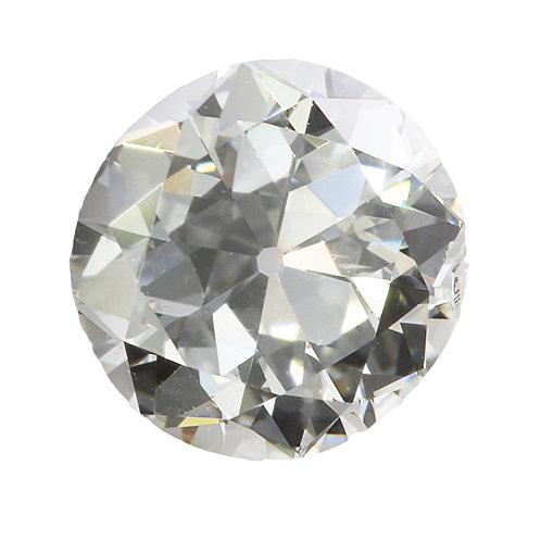 Old European cut Diamond .40ct GIA K Si1 4.67-4.89mm. AKA Early round brilliant cut diamond.