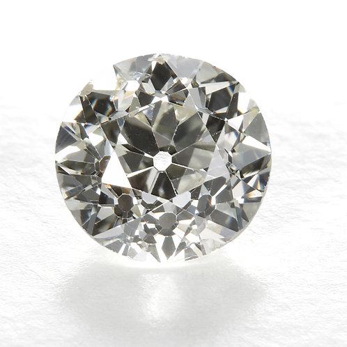 GIA. 0.91ct K Si2 Antique old European cut diamond. 5.96-6.06mm.