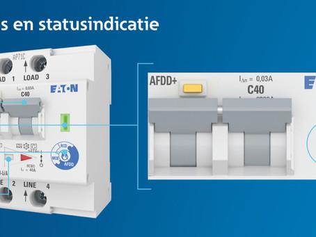 Eaton introduceert nieuwe installatieautomaat met vlamboogdetectie