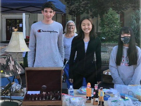 LEO Club members pitch in at the Flea Market