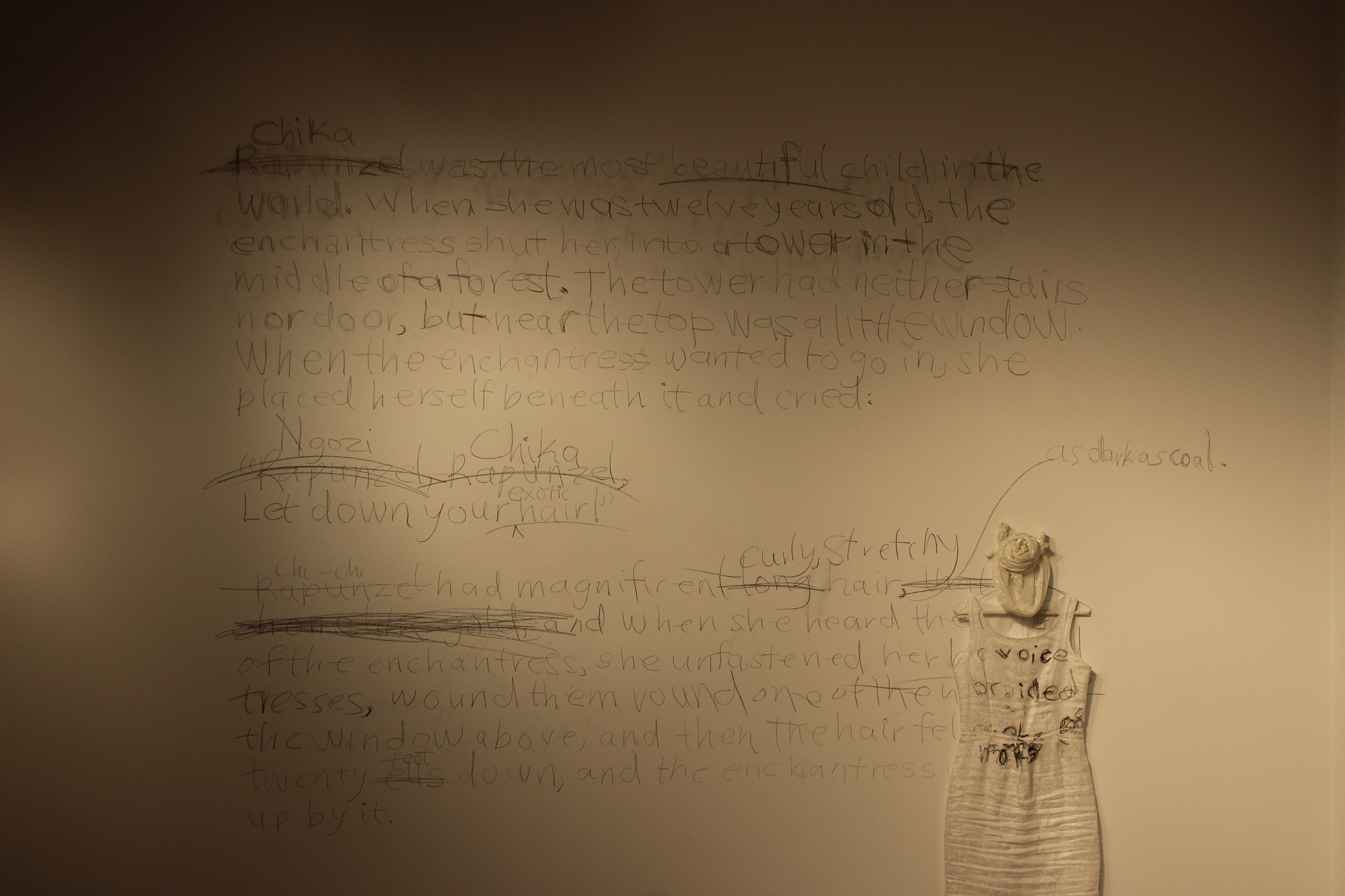 Inscriptions On the Wall and Dress