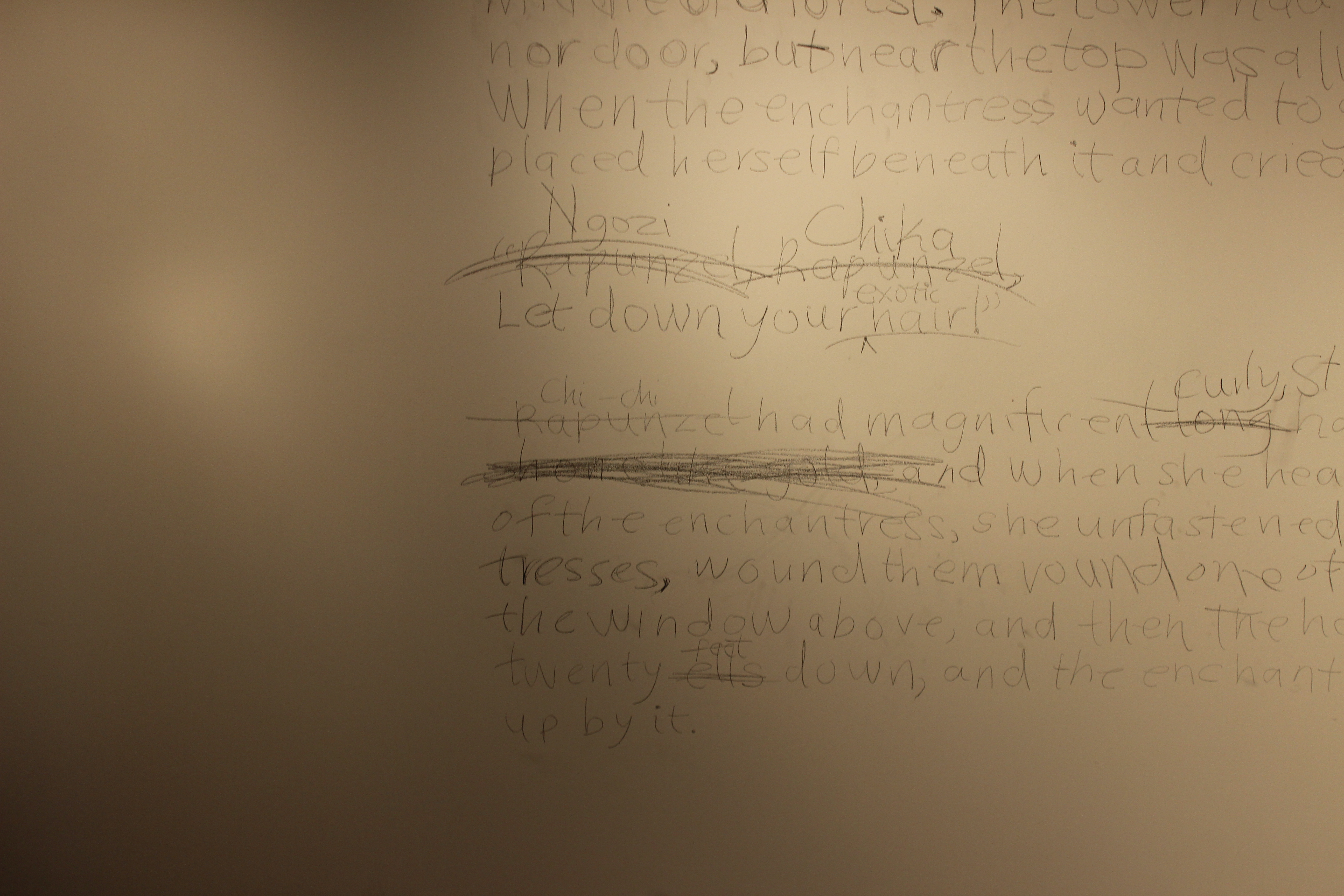 Inscriptions On the Wall.