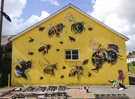 A London Street Artist Paints Swarms of Bees to Raise Awareness of Colony Collapse Disorder