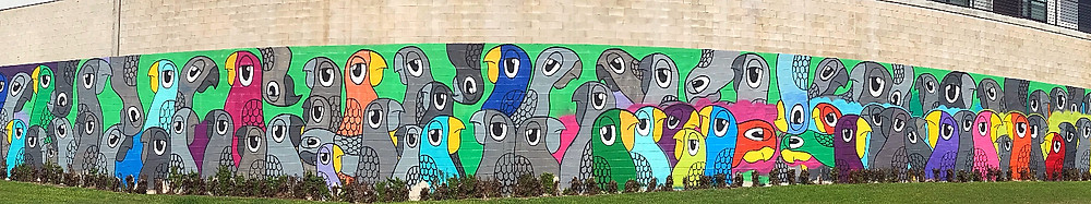 artist marketing mural in Austin, TX