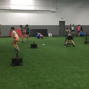 Girls Hockey Team Training
