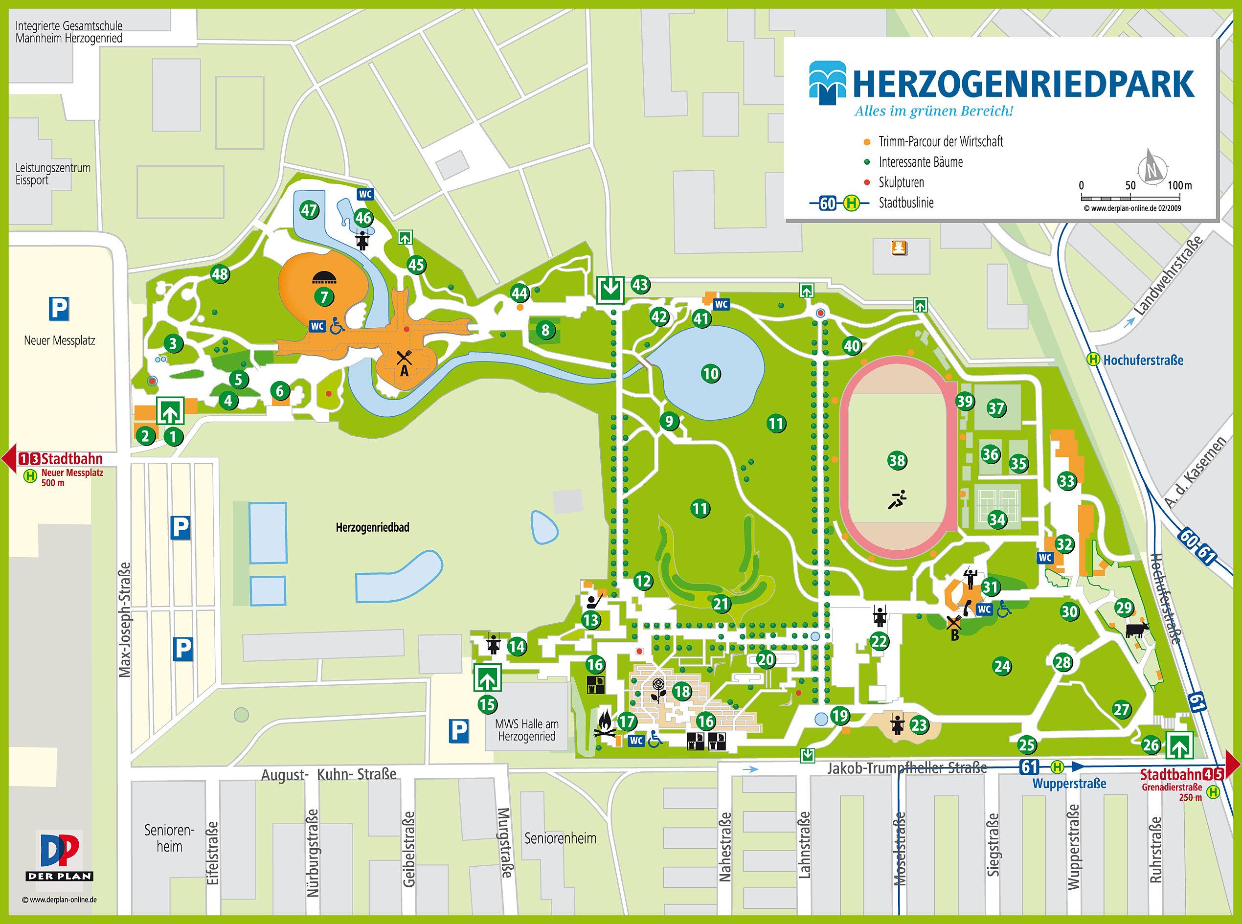 Der Plan Werbung Und Kartografie Lageplan