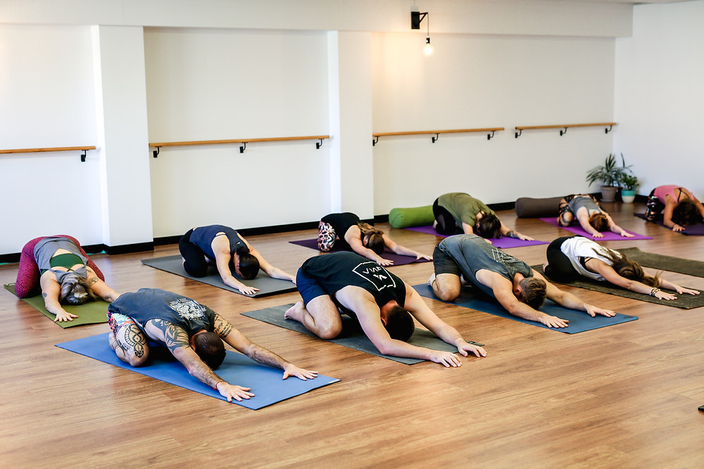 Yoga basics class at the Newcastle Open Mind Space