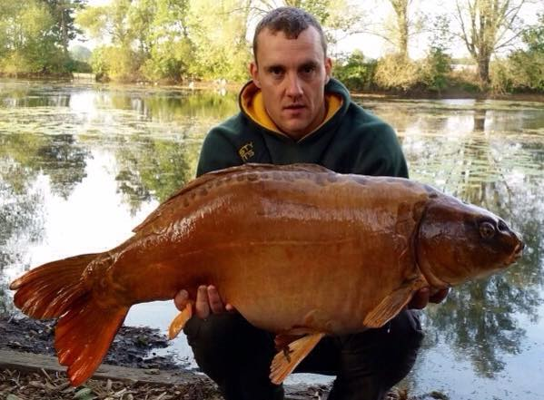 Ryan Deacey with Casper at 40lb 4oz