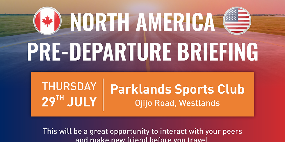 North America Pre-Departure Session