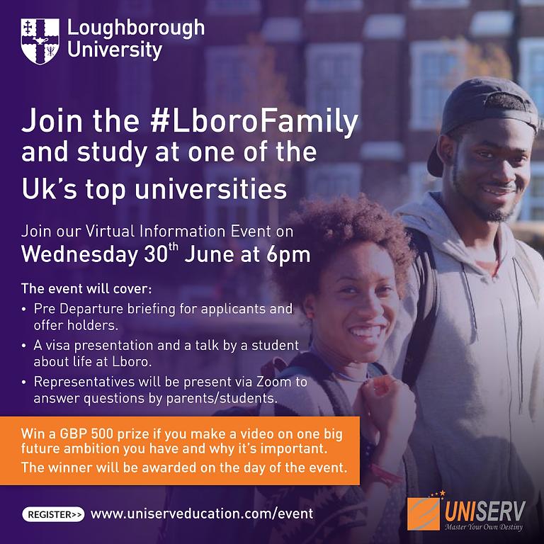 Pre departure session: Loughborough University
