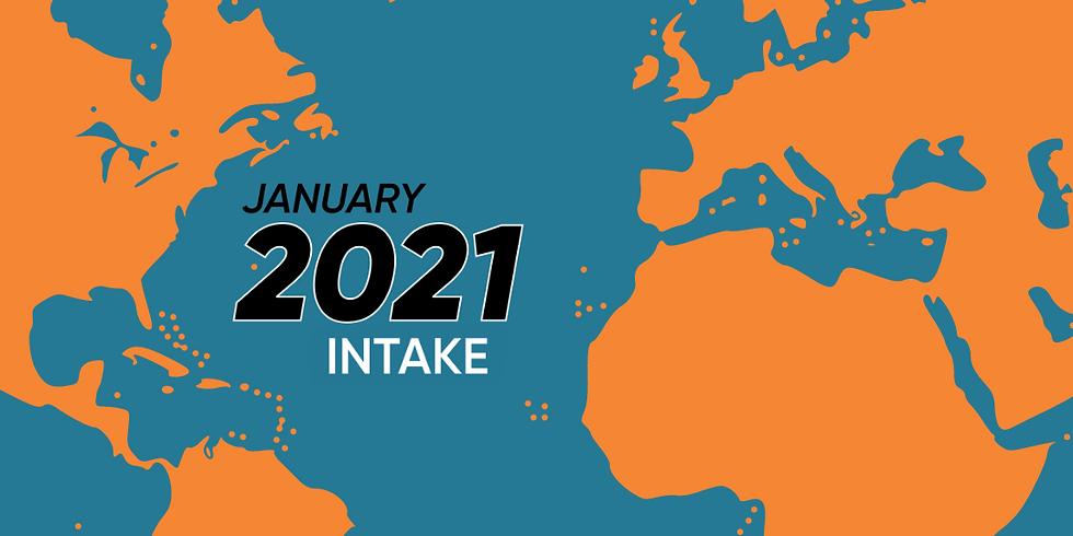 January 2021 Intake