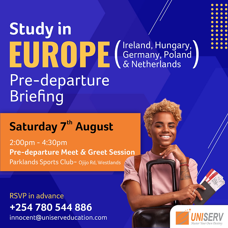 Pre-Departure Session: Study in Europe (Physical Session)