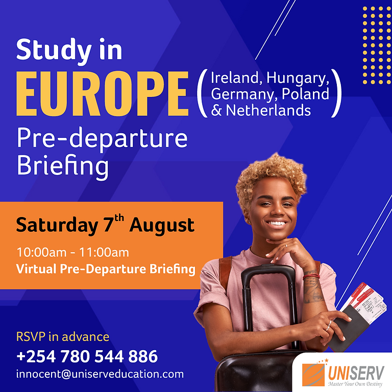 Pre-Departure Session: Study in Europe (Virtual Session)