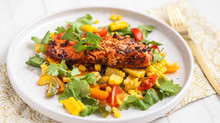 Cajun Salmon with Corn Salsa