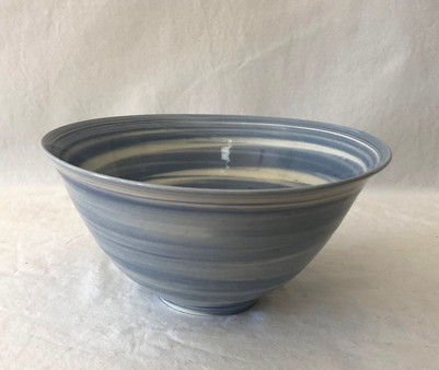Blue and White Bowl, side view