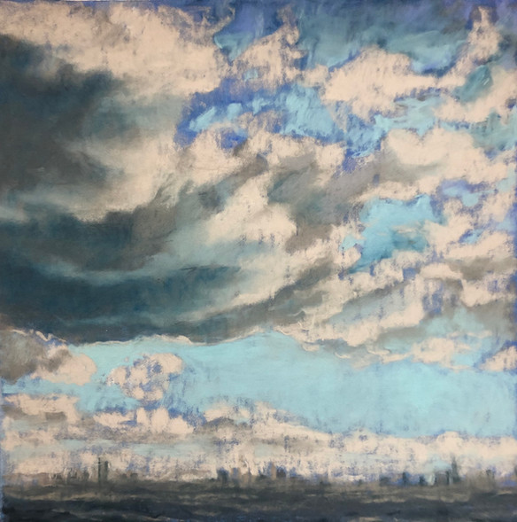 Study for Clouds Over City, 2017