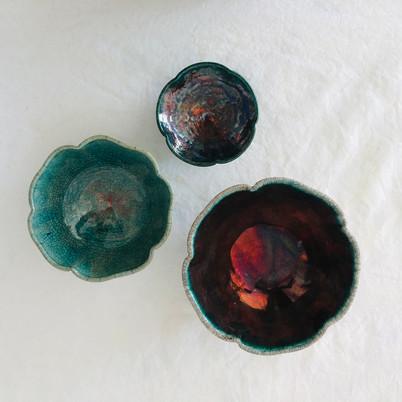 Raku Bowls (above view)