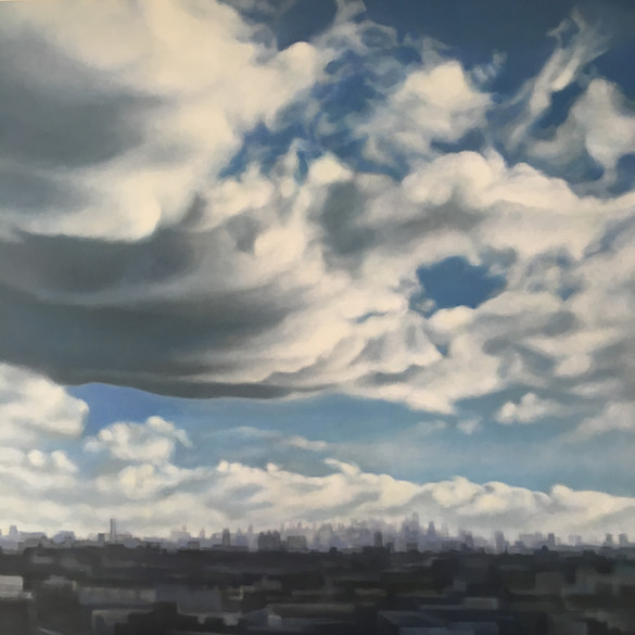 Clouds Over City, Highway Shot, 2017