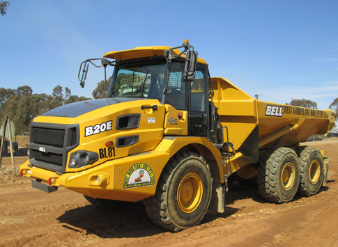 BELL B20D Dumper Hauling on Site - West Rand Plant Hire