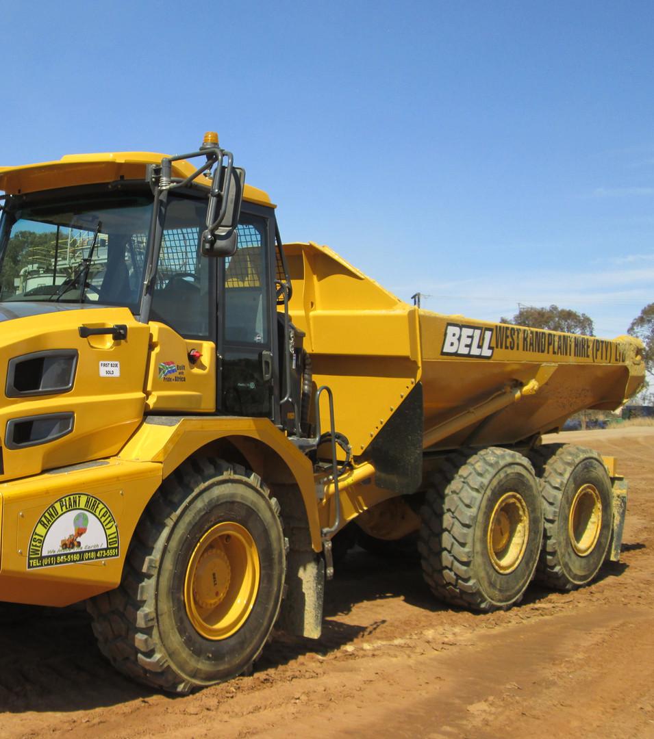 BELL B20D Dumper Hauling on Site - West Rand Plant Hire