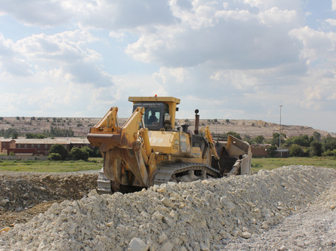 Komatsu D375 Dozing Downhill - West Rand Plant Hire