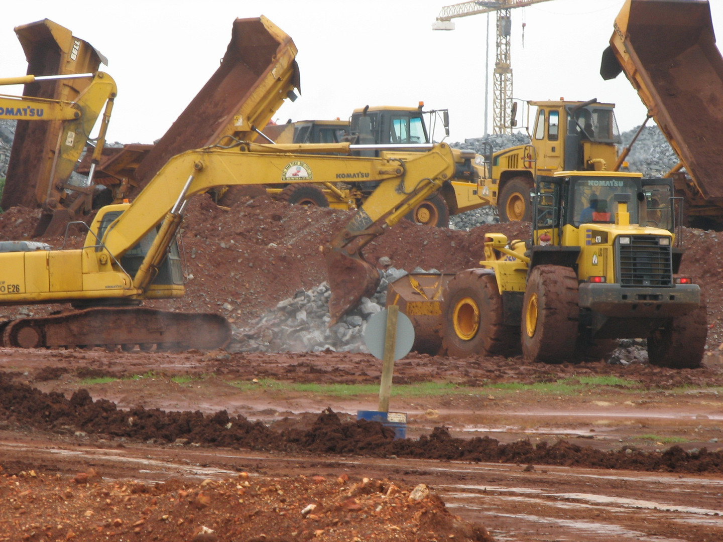 West Rand Plant Hire - Civils Komatsu Excavator and Loader