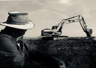 Gert du Randt (Snr) Watching CAT 320 Excavator