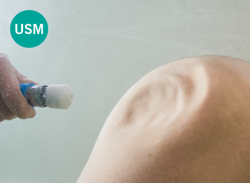 Underwater shower massage