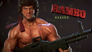 Rambo Statue | Kfir Merlaub Art