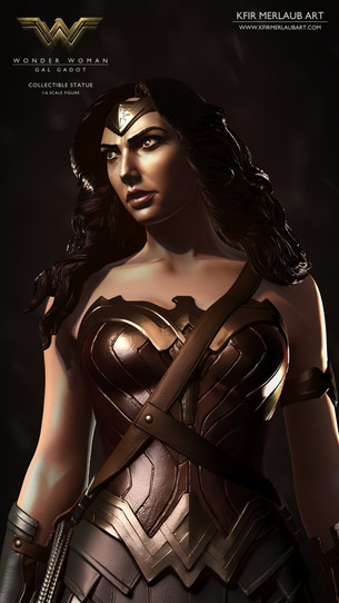 Gal Gadot is Wonder Woman | Digital Sculpture