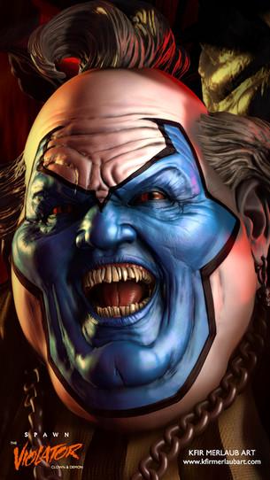 The Violator - Clown & Demon   Digital Sculpture