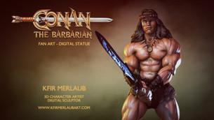 Conan the Barbarian Statue | Kfir Merlaub Art