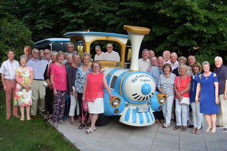 Group photo on Lake Garda holiday