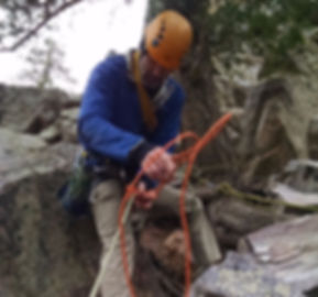 Demonstrating Rock Climbing Rescue Skills