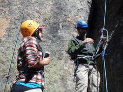 Students Learning to Rappel
