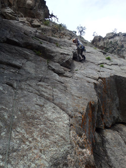 Lead Climbing in Colorado