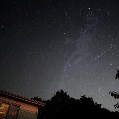 Andromeda, Milky Way, Meteor & Bar Chez Z