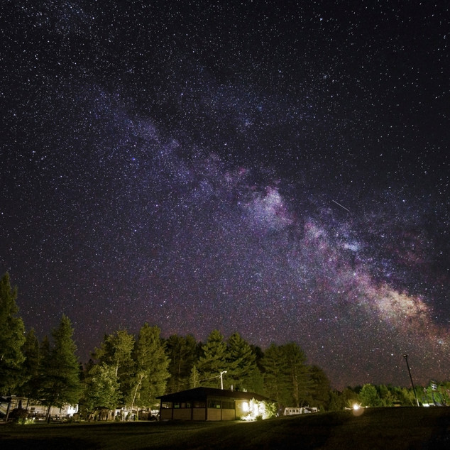 Looking at the center of the Milky Way